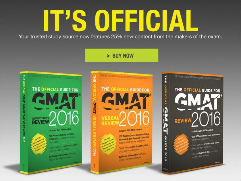 GMAT Official Guides