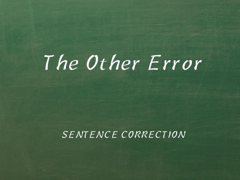 Sentence Correction Strategy