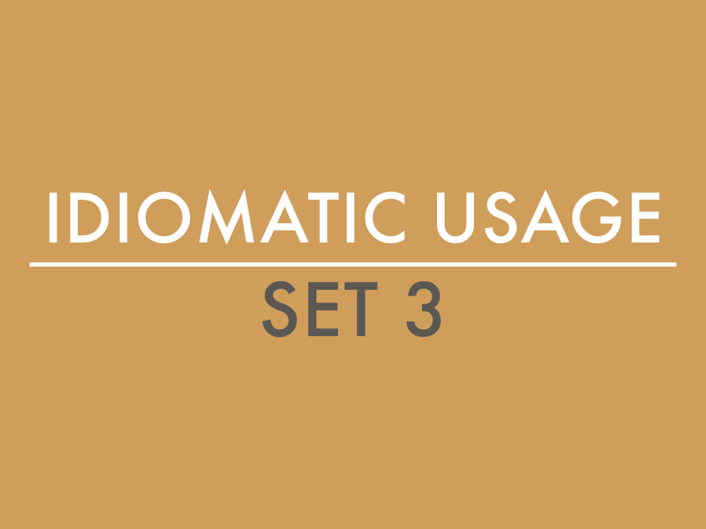 GMAT SC: Idiomatic Usage III
